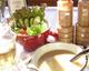 自家製高原野菜と手作りドレッシング