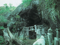 岩屋山・磨崖仏・写真
