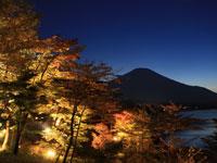 山中湖夕焼けの渚・写真