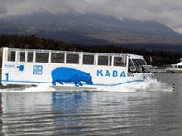 水陸両用バス「YAMANAKAKO NO KABA」・写真