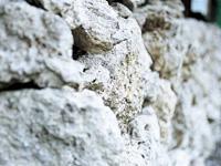 噴湯丘と球状石灰石・写真