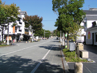 掛川城周辺の町並み