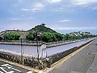 問田益田氏旧宅土塀・写真