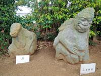 吉備姫王墓内(猿石)・写真