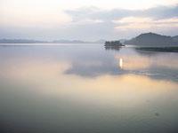 湖山池の石がま漁・写真