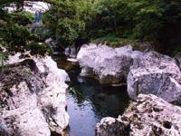 猿飛千壺峡 甌穴群・写真