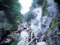 小安峡温泉 大噴湯・写真