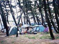 象潟海水浴場キャンプ場・写真