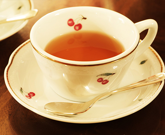 Even the teacups are carefully selected superior items.