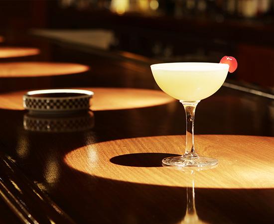 Wright 馆开幕的第二年诞生的「富士山」。模拟微雪的蛋白之美丽琴酒基底的鸡尾酒。