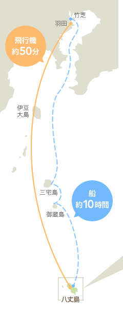 八丈島スポットマップ