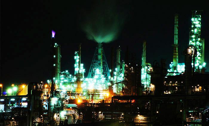 工場夜景(室蘭市)