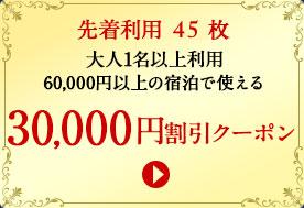 30,000円割引クーポン