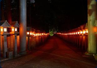 信貴山朝護孫子寺の夜参り