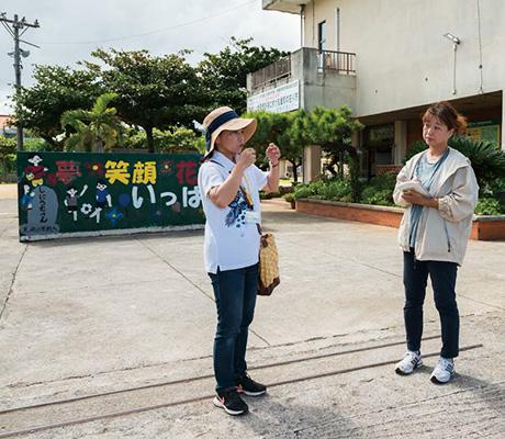 子供達の素朴な笑い声が聞こえる美崎小学校前で