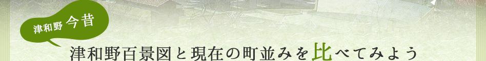 津和野百景図と現在の町並みを比べてみよう