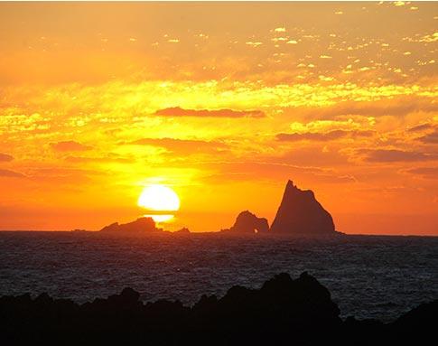 三宅島の夕日