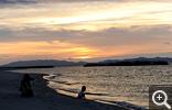【皆生温泉】神々の国 出雲方向に沈む夕日