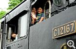 【若桜駅】機関車 C12 167の体験運転