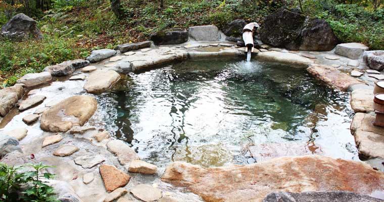 平湯の露天風呂