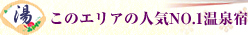 このエリアの人気No.1温泉宿