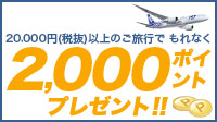 2,000ポイント!