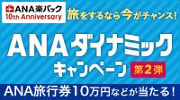 ANAダイナミックキャンペーン 第2弾!