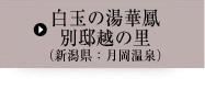 白玉の湯華鳳 別邸越の里【新潟県:月岡温泉】