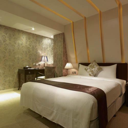 中式酒店单间效果图