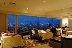 夜景のみえるレストラン