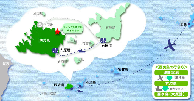西表島へのアクセス