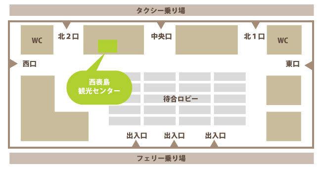石垣離島ターミナル案内図