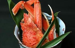 活けずわい蟹の釜揚げ