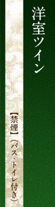 洋室ツイン【禁煙】(バス・トイレ付き)