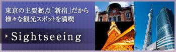 東京の主要拠点「新宿」だから様々な観光スポットを満喫