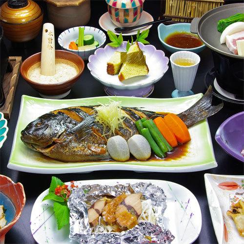 *冬の夕食田舎料理一例