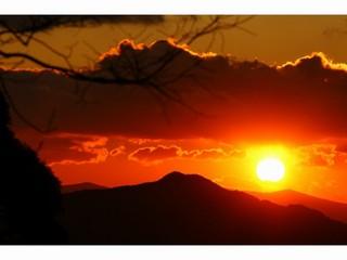 高野山夕焼け
