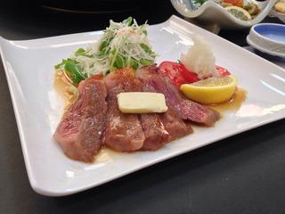 ★期間限定★常陸牛のステーキ付プラン。もちろん、お刺身や煮魚付★