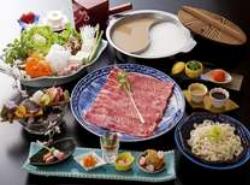 ☆鳥取県産牛と地採れ野菜しゃぶしゃぶ会席☆ 新鮮お造りも付きます♪