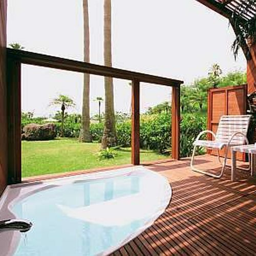 Twin Room with Private Open-Air Bath