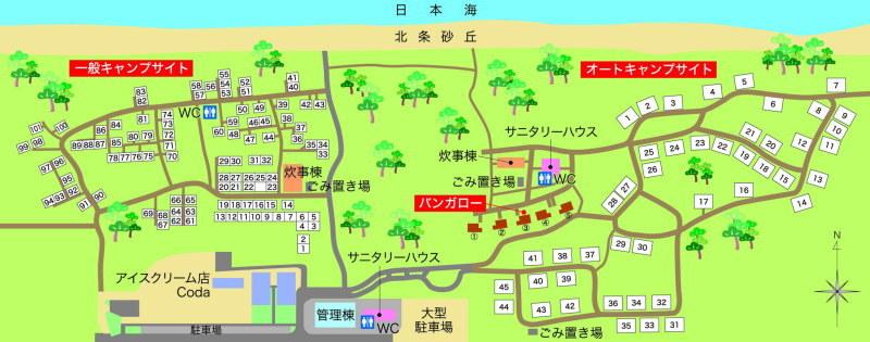 北条オートキャンプ場全体地図