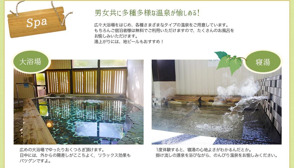 温泉のご紹介 大浴場・寝湯