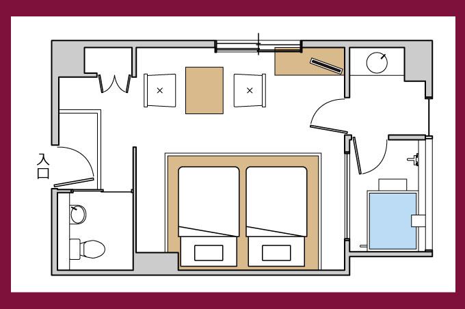 客室平面図露天風呂付き2名専用特室