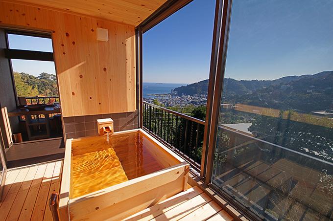 客室露天風呂は眺めもオススメ