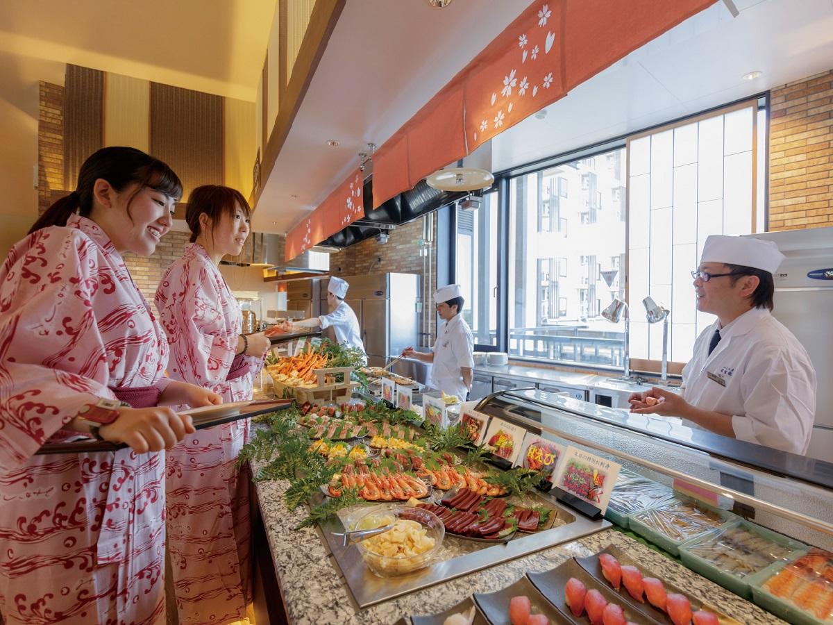 バイキングレストラン「さくら」お刺身・寿司コーナー