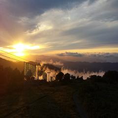 朝里岳パノラマゴンドラ(サンセット)