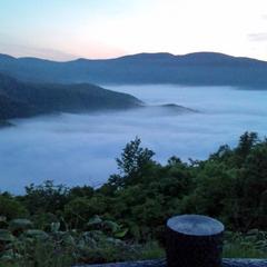 キロロへ向かう途中の展望台からみた雲海