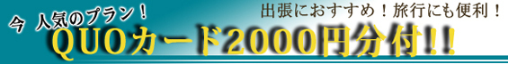 クオカード2000円分付