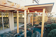 千松自慢の庭園露天風呂