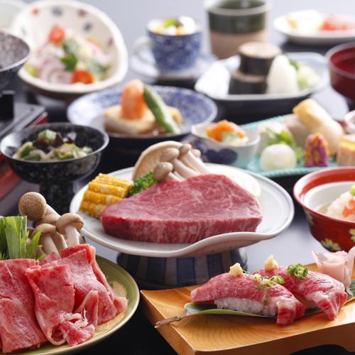 ◆飛騨牛祭り◆『しゃぶしゃぶ×ステーキ×ローストビーフ×握り』〜飛騨牛料理を味わい尽くしぃ〜♪